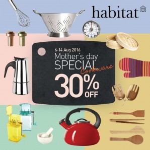 Habitat Mother's Day Special Special Cookware 30%off